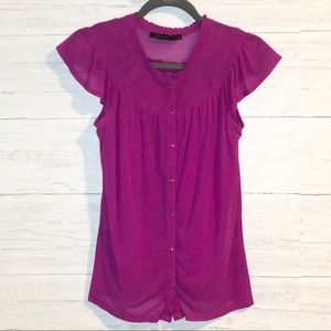 The Limited Fuschia sheer blouse and cami